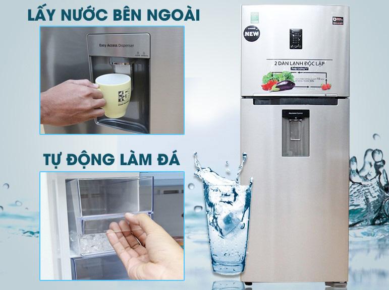 Tủ Lạnh tự động tạo đá và nước mát