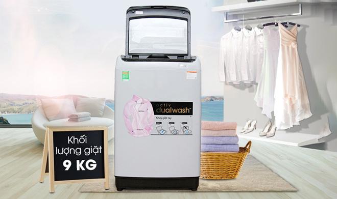 Máy giặt cửa trên Samsung WA90J5710SG