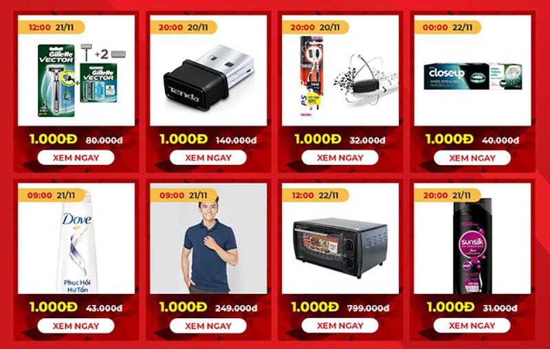 Black Friday Sendo tung ra hàng nghìn sản phẩm giá 1.000 đồng