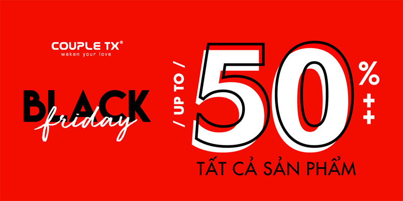 Couple TX khuyến mãi Black Friday 2018