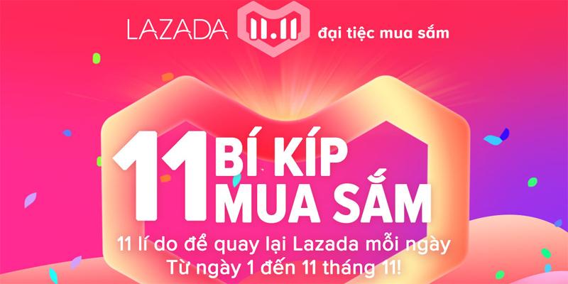 Lazada đại tiệc mua sắm ngày 11 tháng 11 năm 2018 có gì