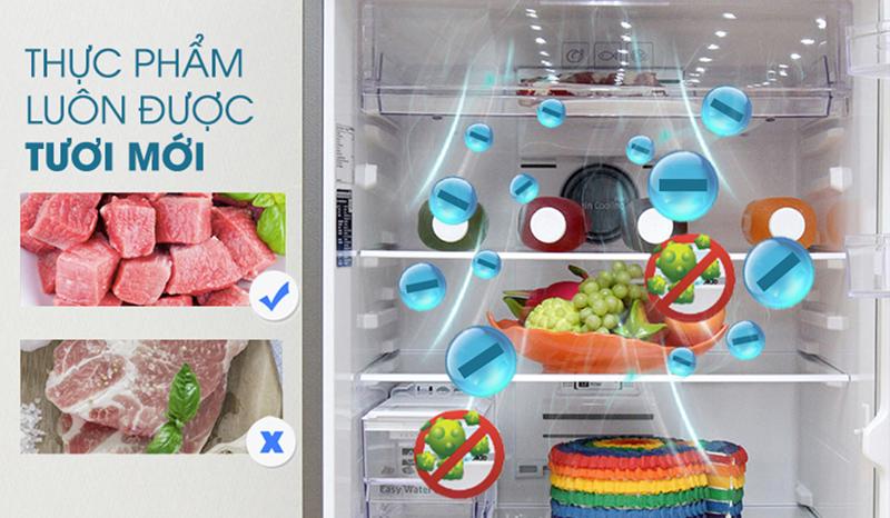Công nghệ Ion bạc giúp tủ lạnh Electrolux kháng khuẩn bảo vệ thực phẩm
