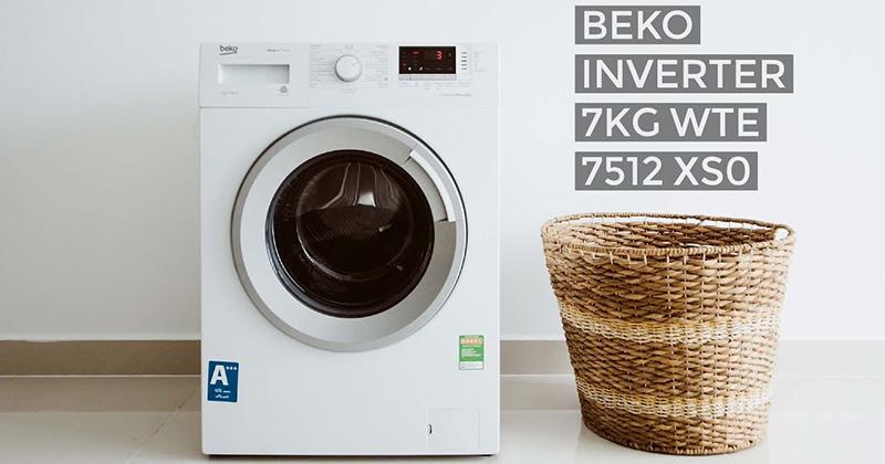 áy giặt Beko Inverter 7 kg WTE 7512 XS0