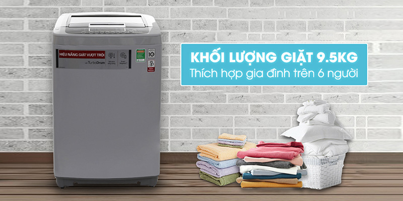 Máy giặt LG Inverter 9.5kg T2395VS2M