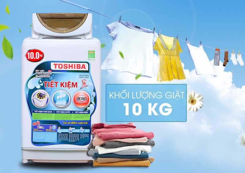 Máy giặt Toshiba có đa dạng về khối lượng giặt?
