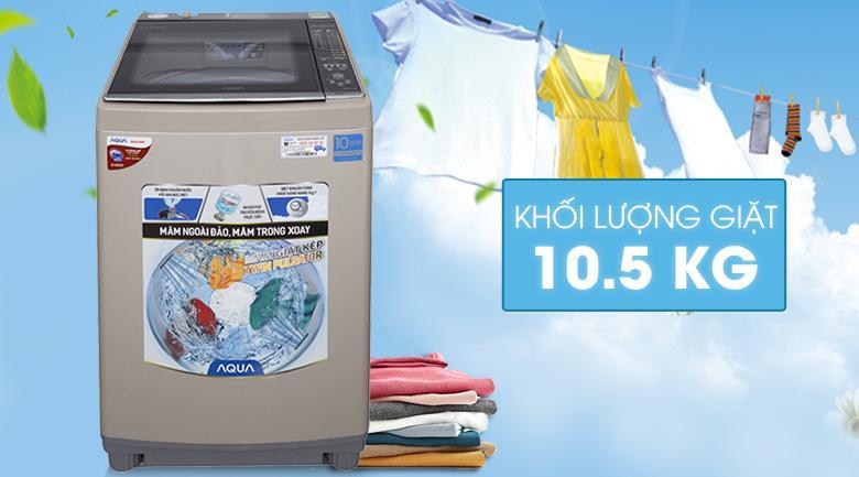 Máy giặt Aqua Inverter 10,5 Kg AQW-DW105AT N