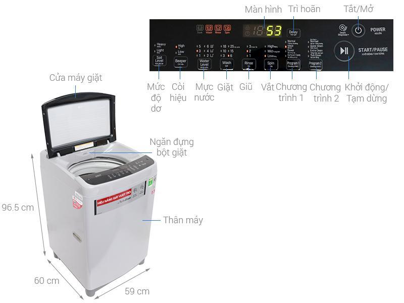 Máy giặt LG Inverter 8.5 kg T2385VS2M