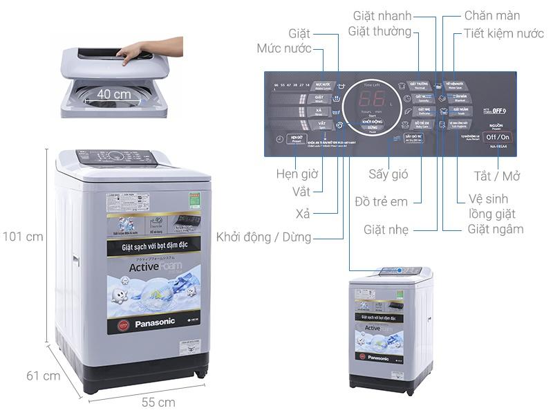 Thông số kỹ thuật Máy giặt Panasonic 8.5 kg NA-F85A4HRV