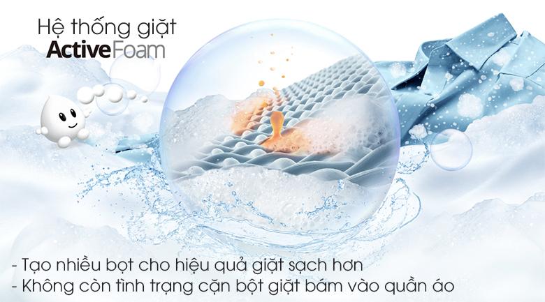 Công nghệ Active Foam - Máy giặt Panasonic 9kg NA-F90V5LMX