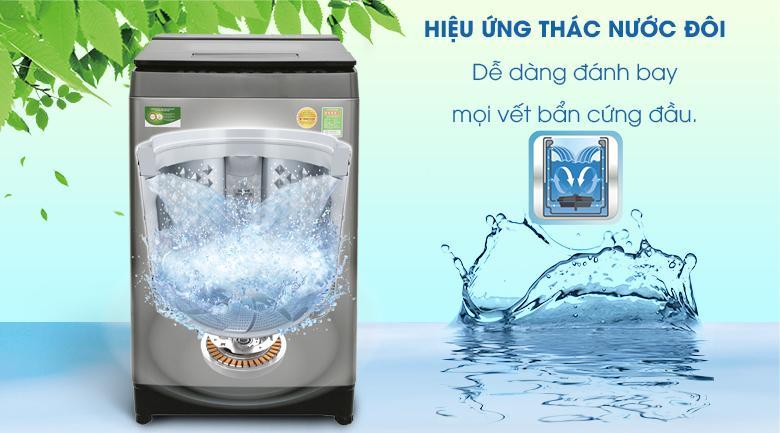 Hiệu ứng thác nước đôi - Máy giặt Toshiba Inverter 10 kg AW-DUH1100GV