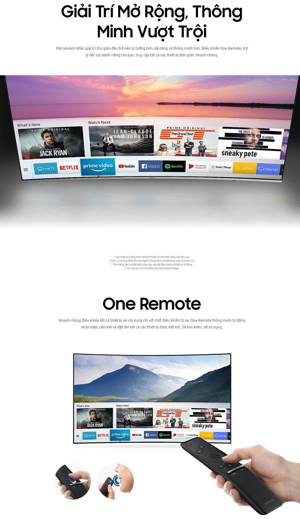 So Sánh giá Smart Tivi Cong Samsung 4K 55 inch UA55NU8500