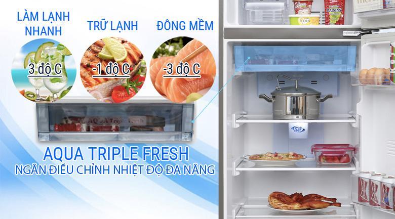 Aqua Triple Fresh - Tủ lạnh Aqua Inverter 281 lít AQR-I287BN PS