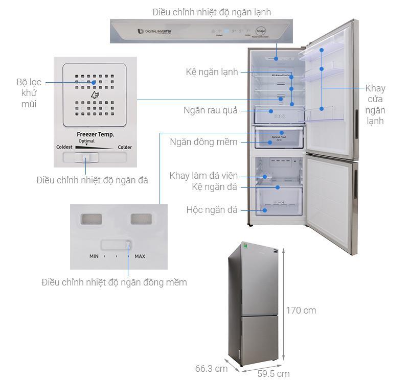 Tủ lạnh Samsung Inverter 310 lít RB30N4010S8/SV
