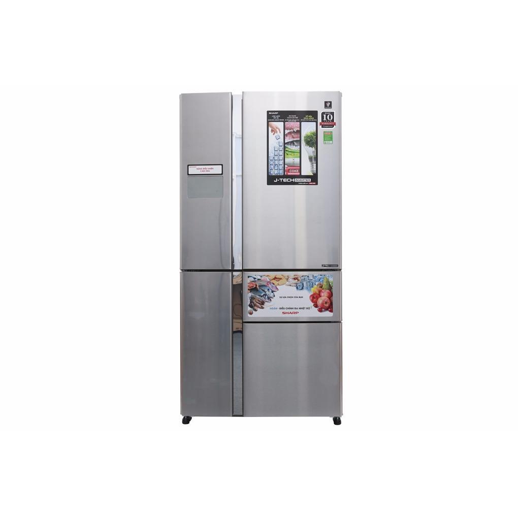 Tủ lạnh Sharp Inverter 758 lít SJ-F5X76VM-SL