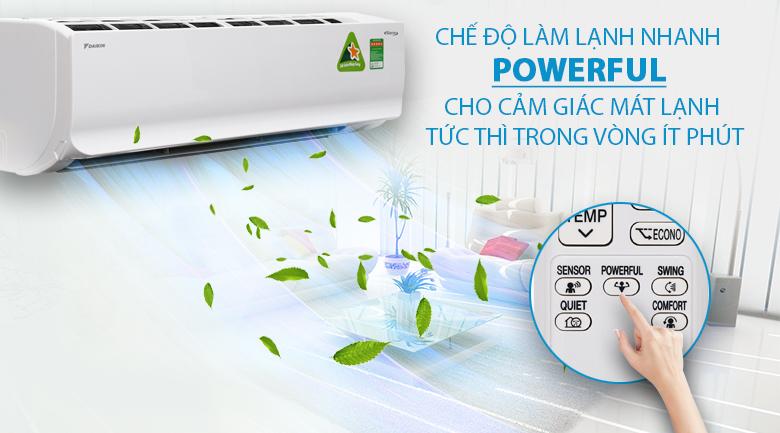 Làm lạnh nhanh - Máy lạnh Daikin Inverter 2 HP FTKC50TVMV