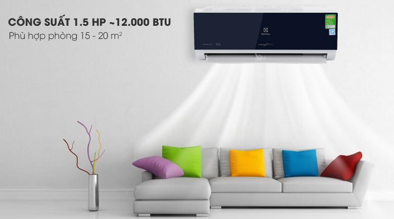 Công suất - Máy lạnh Electrolux Inverter 1.5 HP ESV12CRO-D1