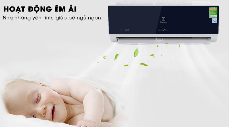 Hoạt động êm ái - Máy lạnh Electrolux Inverter 1.5 HP ESV12CRO-D1