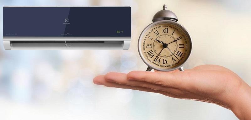 Tiện lợi với tính năng hẹn giờ bật tắt máy tùy theo nhu cầu sử dụng