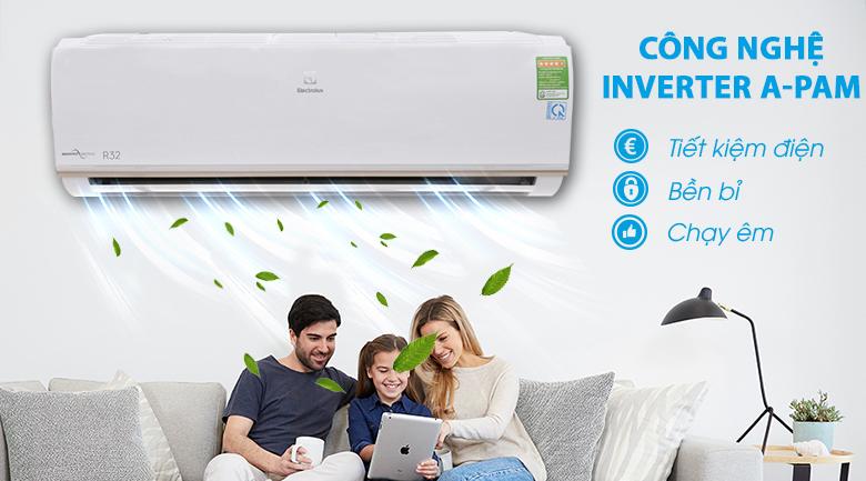 Inverter A-PAM - Máy lạnh Electrolux Inverter 1 HP ESV09CRO-A1