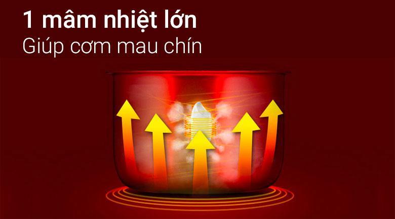 Nồi cơm điện Delites 1.2 lít NCG1201