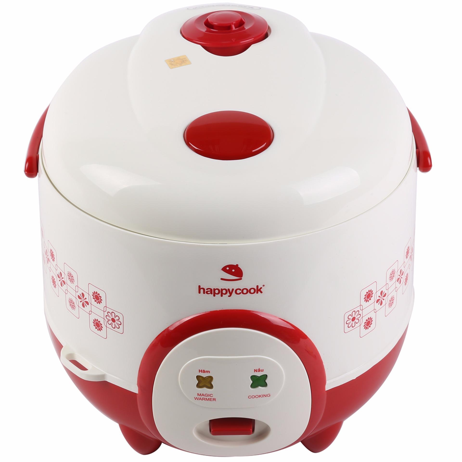 Nồi cơm điện Happycook 1.2 lít HC-120-Xanh