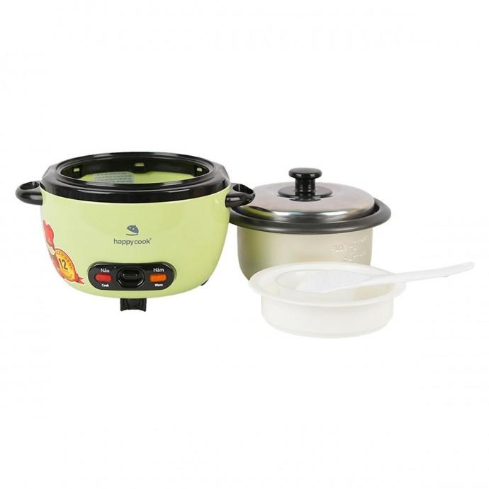 Nồi Cơm Điện Nắp Rời Cơ Happy Cook 0.6L Hcd-061A - Vỏ Kim Loại, Lòng Nồi Nhôm Dày Chống Dính