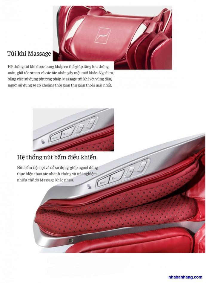 Ghế Massage Toàn Thân BODYFRIEND Rex-L (Đỏ)