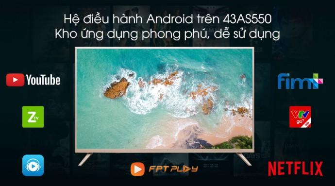 Smart Tivi Wifi Led Full Hd 43 Inch Asanzo 43As550