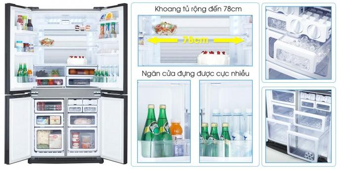 Tủ Lạnh Sharp 626 Lít Sj-Fx631V-Sl
