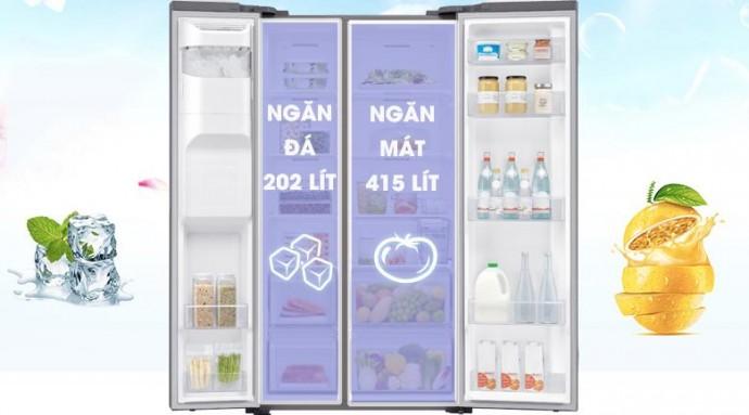 Tủ Lạnh Samsung Sbs Rs64R5101Sl/Sv